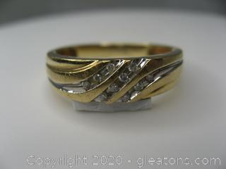 10kt Yellow Gold Men's Diamond Band