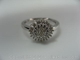 Diamond and Sterling Ring
