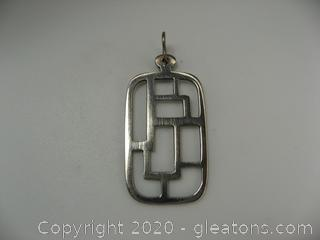 Native American Style Sterling Pendant
