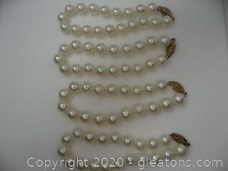 Set of 4 Freshwater Bracelets Pearl