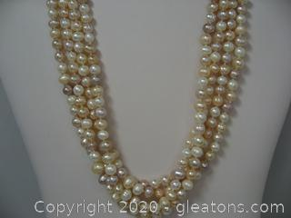 Very Long Strand Pink Freshwater Pearls