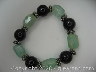Amethyst and Quartz Bracelets