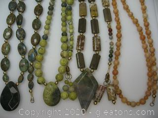 Gemstone Necklace and Bracelet Collection