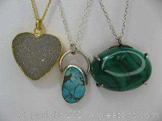 Lot of Gemstone Necklaces (4)