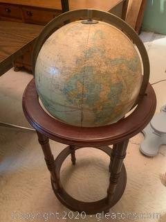 Two Tier Floor World Globe