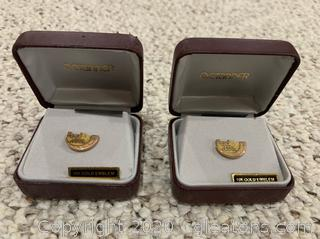 Pair of FedEx Safe Driver 10K Gold Emblem
