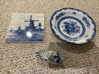 Dutch Delft Porcelain Pottery
