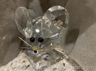 Swarovski Silver Crystal Mouse Figurine