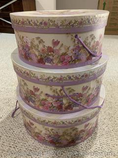 Round Stackable Hat Boxes
