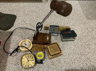 Assortment of Miscellaneous Desk Accessories