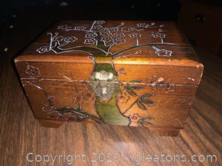 Cherry Blossom Music Jewelry Box