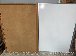 Dry Erase Board and Bulletin Board