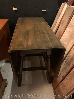 Dark Espresso Wood Drop Leaf Table