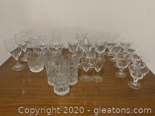 Assortment of Crystal Cordial Glasses