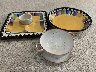 Gibson Elite Chip and Dip and Serving Bowl