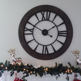 """Oversized 40"""" Wall Clock 2 Pieces"""