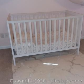 White Baby Bed From Ikea Mattress Included