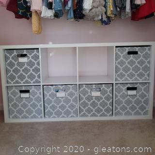 White Storage Cabinet with 8 Compartments From Ikea
