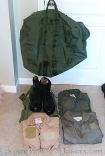 Military Issue Flyers Kit Bag and Contents