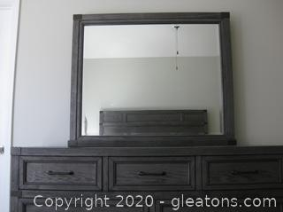 Haverty's Vickery Creek Weathered Gray Dresser with Mirror