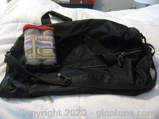 Eddie Bauer Duffel Bag and Franklin 6 pk. Soft Strike Tee-balls- (Tee-balls are New in Bag)