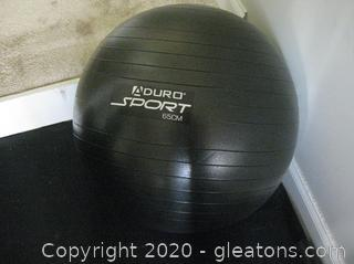 A Duro Sport 65cm Stability Ball(Inflated)
