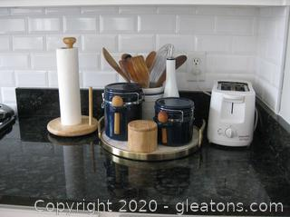 Toaster and Kitchen Utensil/Canister Group