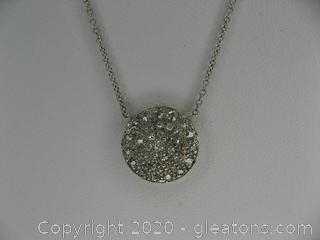 Platinum and 14kt White Gold Diamond Necklace