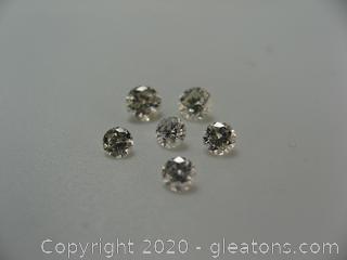 Lot of (6) Round Diamonds