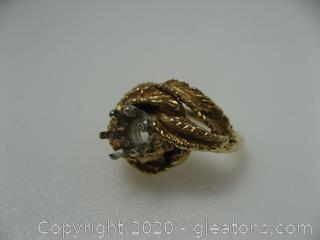 14kt Yellow Gold Ring Mounting 6.9 Grams QUALIFIES FOR FREE SHIPPING