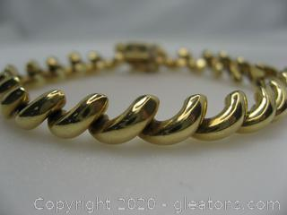 14kt Yellow Gold San Marco Bracelet QUALIFIES FOR FREE SHIPPING