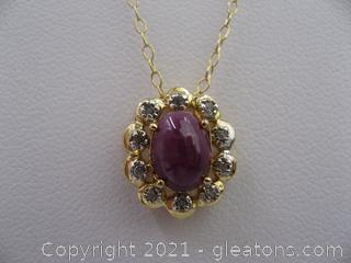 Ruby and Diamond Necklace QUALIFIES FOR FREE SHIPPING