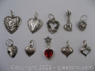 Heart Charm Lot 1