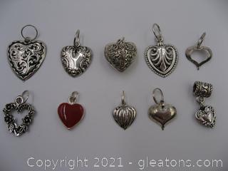 Heart Charm Lot 2