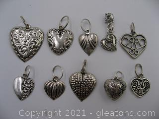 Heart Charm Lot 3