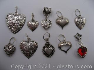 Heart Charm Lot 4
