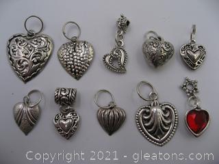 Heart Charm Lot 5