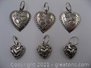 Heart Charm Lot 7
