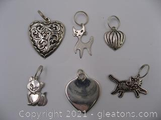 Cat and Heart Charm Lot 1