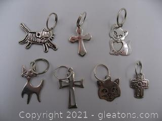 Cat and Cross Charm Lot