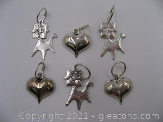Dog and Heart Charm Lot