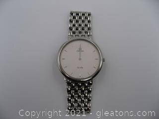 Omega Deville Stainless Steel Watch QUALIFIES FOR FREE SHIPPING