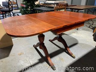 Cherry Wood Drop Leaf Table