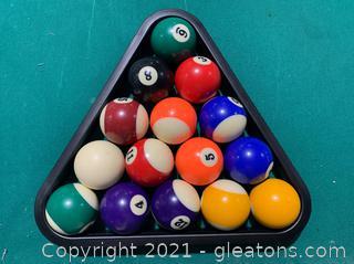 Sportcraft Billiard Balls with Triangle