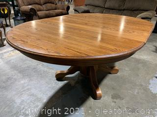 Classic Oak Pedestal Table