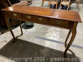 Queen Anne Walnut Console Table