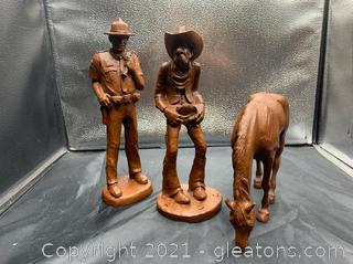 Red Mill Hand Crafted Western Figurines