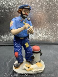 Emmett Kelly Jr. Clown Police Officer Figurine