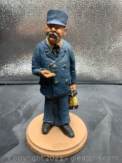 1990 Ressin Train Conductor Figurine