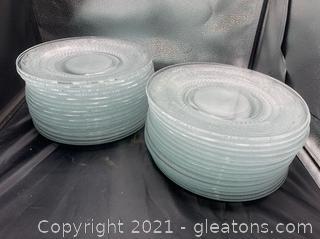 Kig Malaysia Cut Glass Dinner Plates